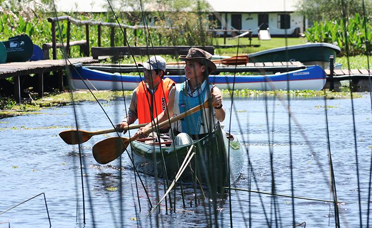 Navegación en los Esteros del Iberá
